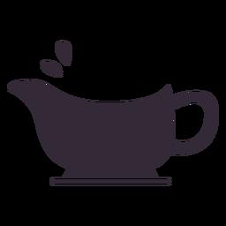 Plantilla de símbolo de bote de salsa de acción de gracias plana
