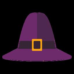 Flat thanksgiving pilgrim hat symbol