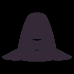 Flat thanksgiving pilgrim hat symbol stencil