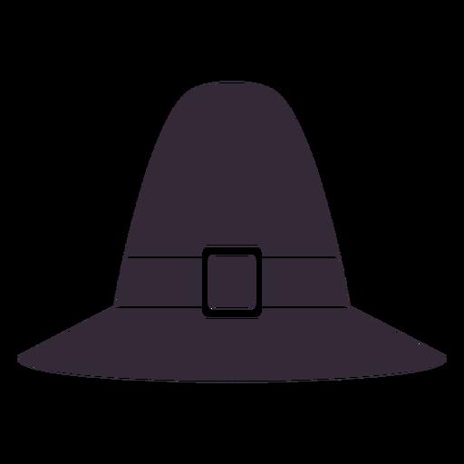 Plantilla de s?mbolo de sombrero de peregrino de acci?n de gracias plana