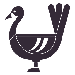 Flat thanksgiving turkey symbol stencil