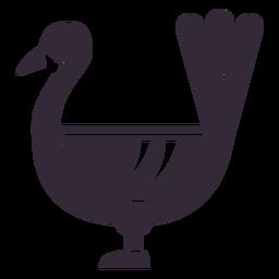 Plantilla plana de símbolo de pavo de acción de gracias