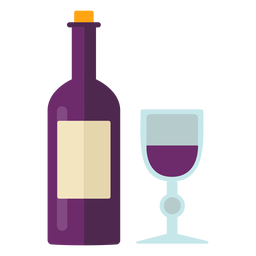 Flat thanksgiving wine symbol