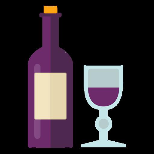 Flat thanksgiving wine symbol Transparent PNG
