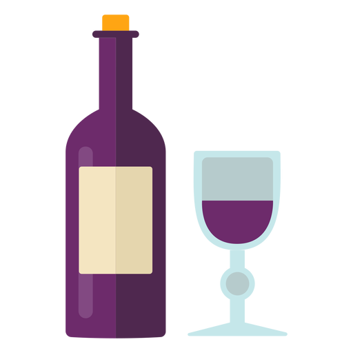 S?mbolo de vino de acci?n de gracias plana