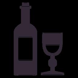 Estêncil de símbolo de vinho de ação de graças plana