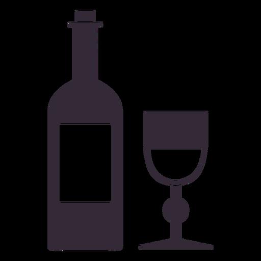 Flat thanksgiving wine symbol stencil