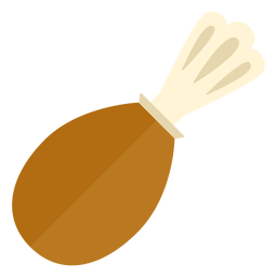 Flaches Truthahn-Trommelstock-Symbol