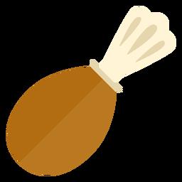 Símbolo de muslo de pavo plano