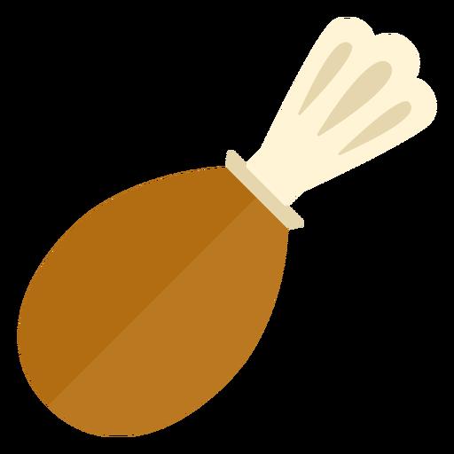 Símbolo de coxa de peru plana Transparent PNG