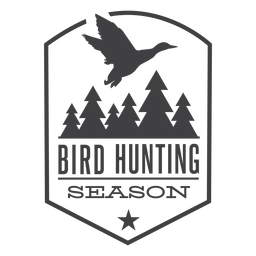 Forest bird hunting badge logo
