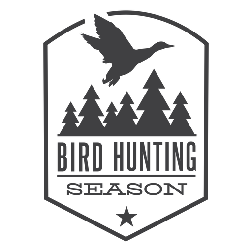Forest bird hunting badge logo Transparent PNG