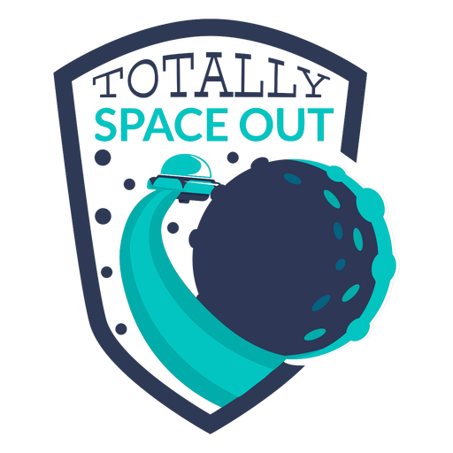 Fun alien totally space out badge