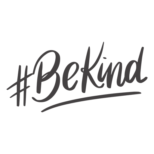 Hashtag be kind handwritten lettering Transparent PNG