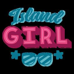 Letras havaianas de ilha menina