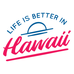 A vida é melhor letras havaianas