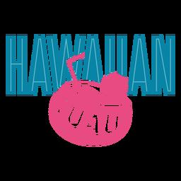 Luau Kokosnuss Hawaii Schriftzug