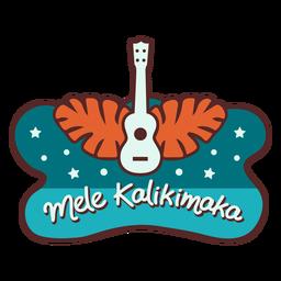 Banner de hojas de palma de guitarra mele kalikimaka