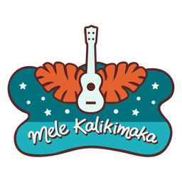 Mele kalikimaka guitarra palm folhas banner
