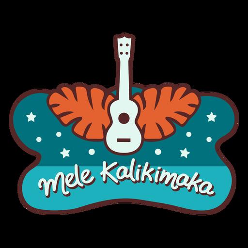 Mele kalikimaka guitarra hojas de palma banner Transparent PNG