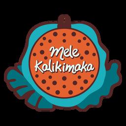Mele kalikimaka adorno árbol