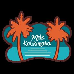 Mele kalikimaka palmeira mar banner