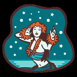 Mele Kalikimaka Schneehula-Tänzerin