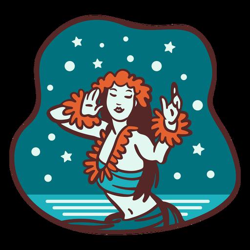 Mele kalikimaka bailarina de nieve hula Transparent PNG