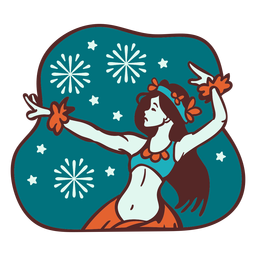 Mele kalikimaka bailarín de copo de nieve hula