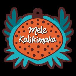 Decoración del árbol Mele Kalikimaka