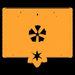 Plantilla mexicana tropical floral naranja