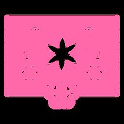 Estêncil rosa tropical floral mexicano