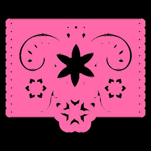 Estêncil rosa floral tropical mexicano