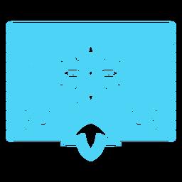 Estêncil floral tropical mexicano azul