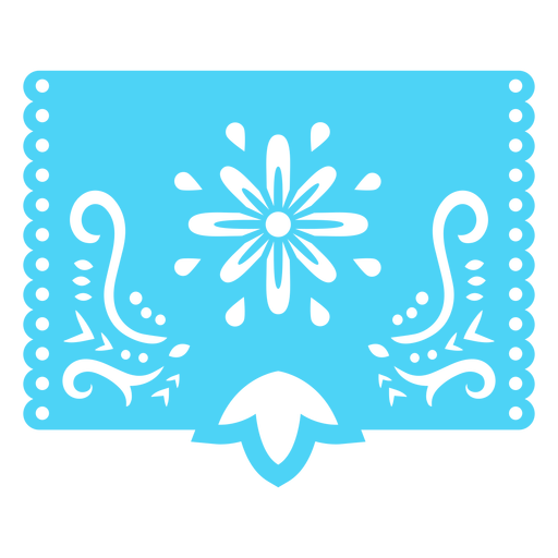 Plantilla floral tropical mexicana azul