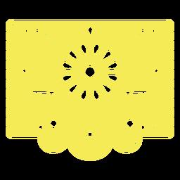 Plantilla floral tropical mexicana amarilla