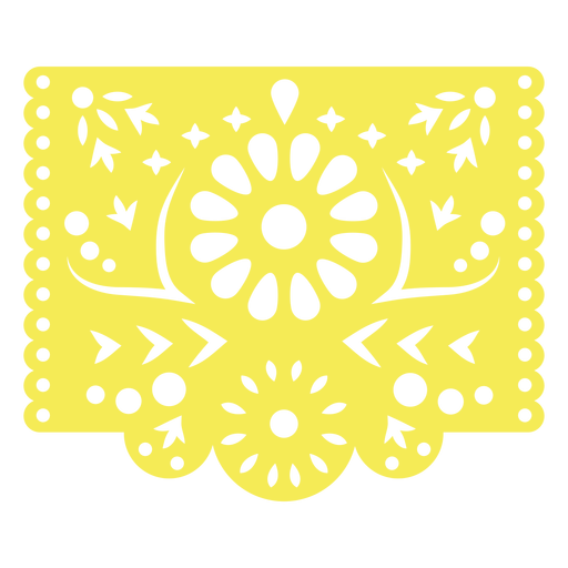 Mexican tropical floral stencil yellow