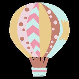 Balão de ar quente com padrão misto