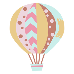 Mixed patterned hot air balloon