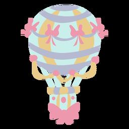Balão de ar quente azul de fitas