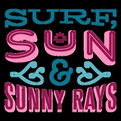 Letras de sol hawaiano de sol de surf Transparent PNG