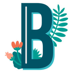 Tropical decorated capital letter b
