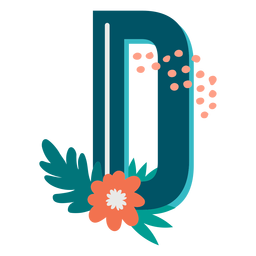 Tropical decorated capital letter d