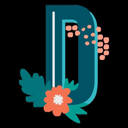 Tropical decorated capital letter d Transparent PNG