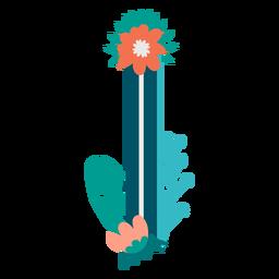 Letra maiúscula decorada tropical i