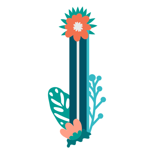 Tropical decorated capital letter i Transparent PNG