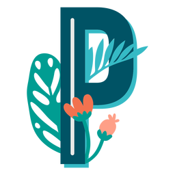 Tropical decorated capital letter p