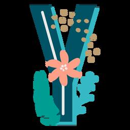 Tropical maiúscula decorada y