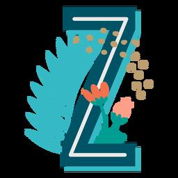 Tropical maiúscula decorada z