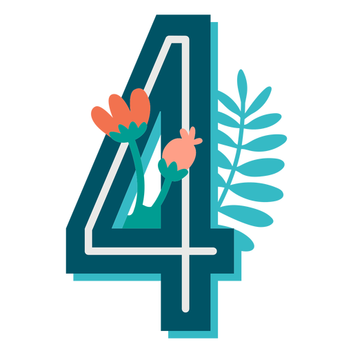 Tropical Decorated Number 4